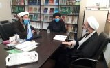 نشست سرپرست معاونت اجتماعی و پیشگیری از وقوع جرم دادگستری کل استان قم با مسئولین موسسه آوای توحید